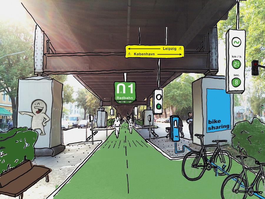 Mein Lieber Prost Prostie Auslachen Keep Berlin Weird Radbahn Radautobahn U1 U12 Wrangelstrasse Kreuzberg Bike-sharing